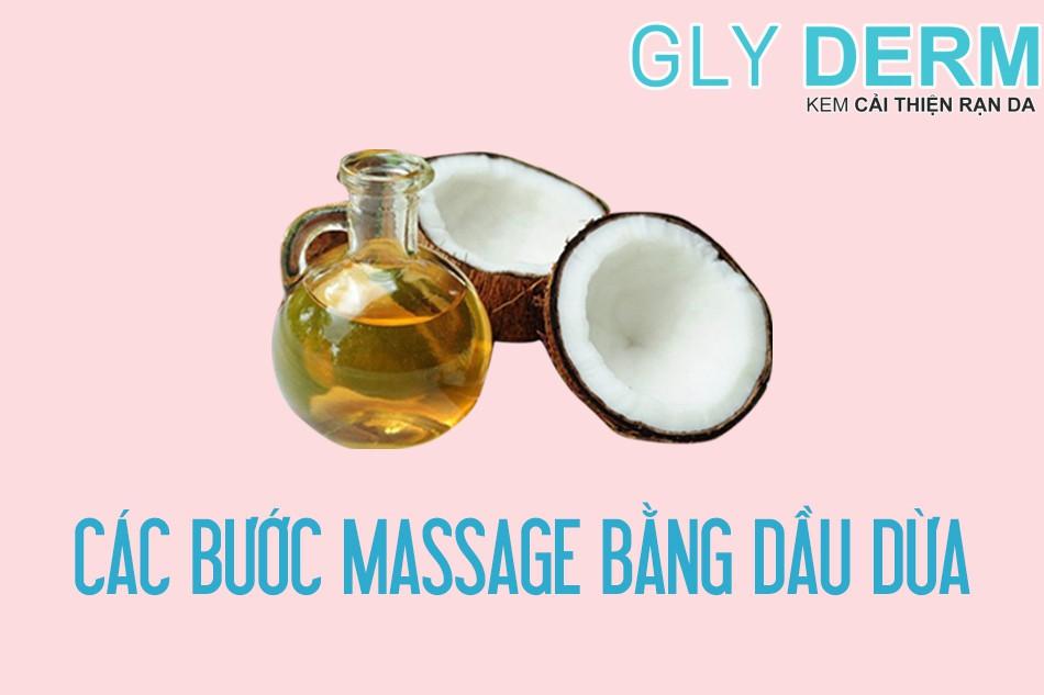 Các bước massage bằng dầu dừa