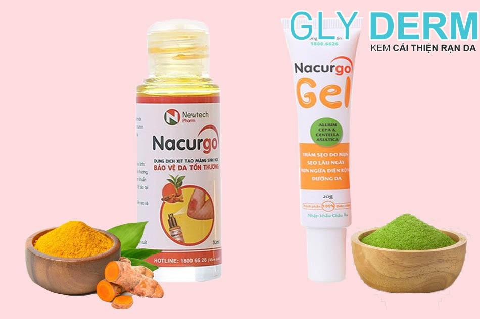 Nacurgo Gel dạng xịt và dạng gel