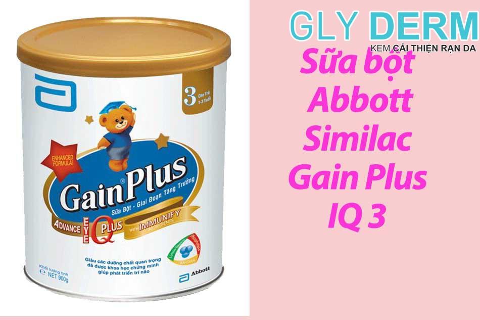 Sữa bột Abbott Similac Gain Plus IQ 3 cho bé từ 1 – 3 tuổi