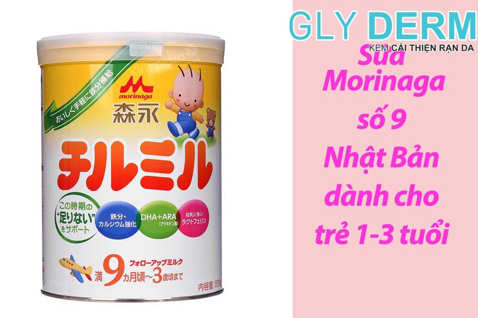 Sữa Morinaga số 9 Nhật Bản dành cho trẻ 1-3 tuổi