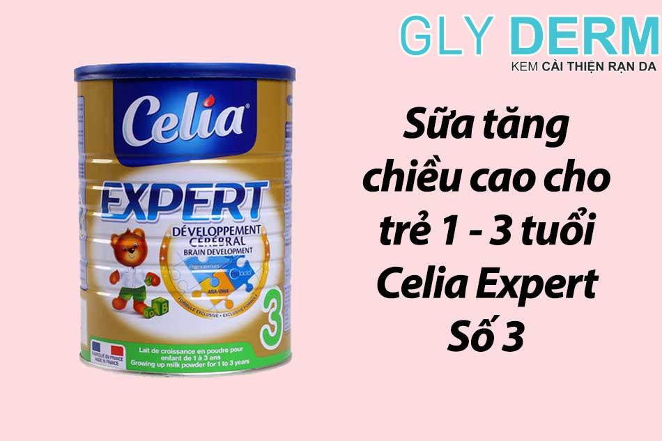 Sữa tăng chiều cao cho trẻ 1 - 3 tuổi Celia Expert Số 3