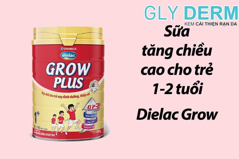 Sữa tăng chiều cao cho trẻ 1-2 tuổi Dielac Grow