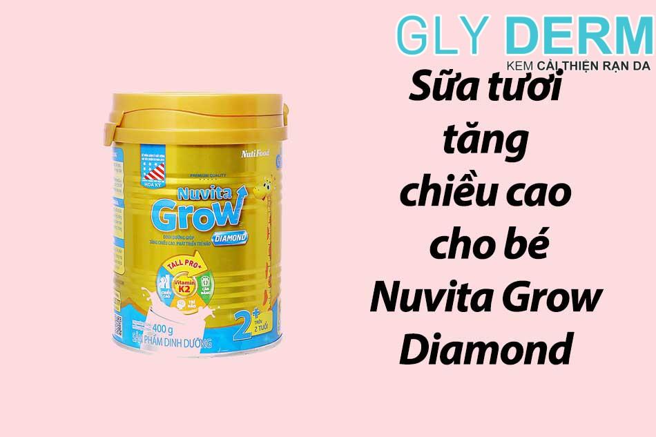Sữa tươi tăng chiều cao cho bé Nuvita Grow Diamond