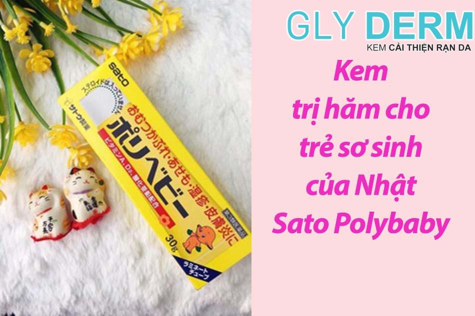 Kem trị hăm cho trẻ sơ sinh của Nhật Sato Polybaby