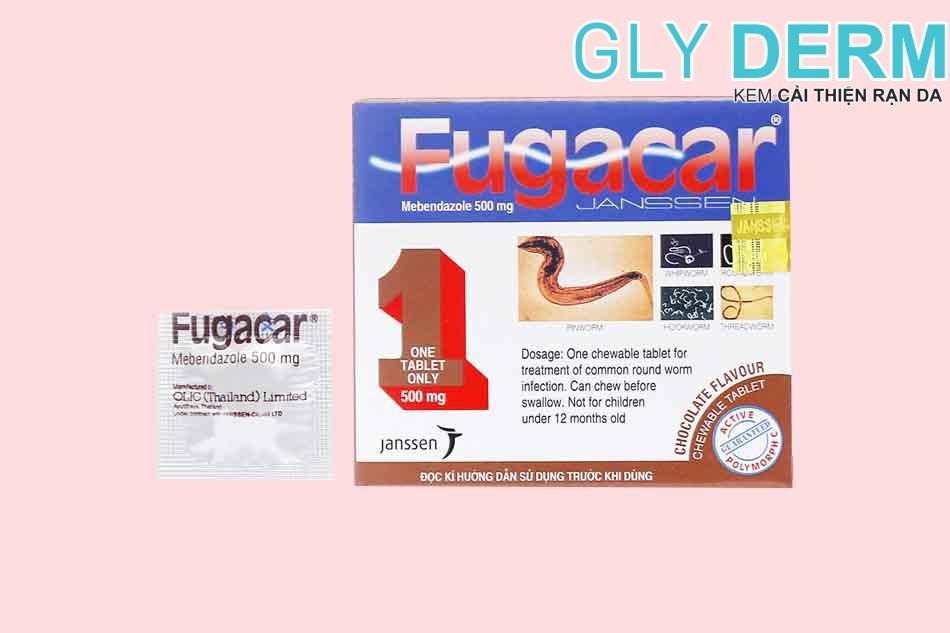 Thuốc tẩy giun Fugacar cho trẻ em