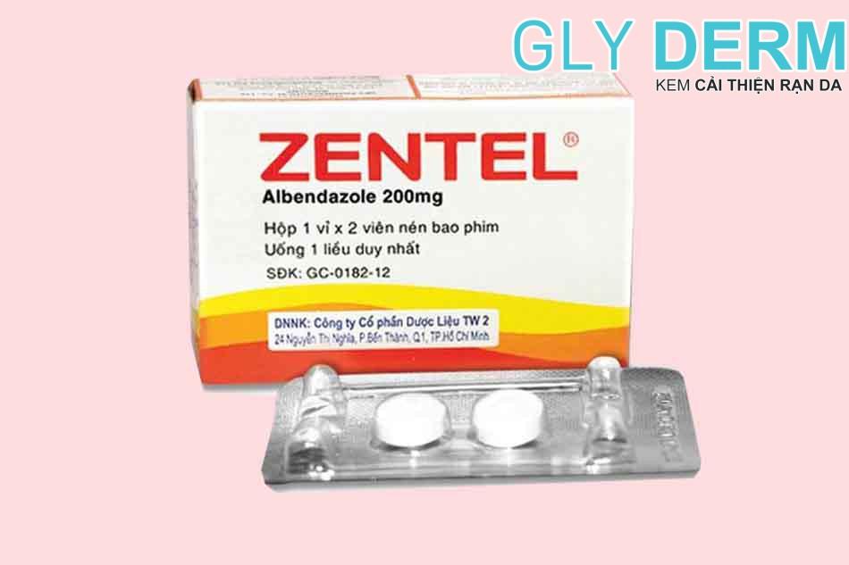 Thuốc tẩy giun Zentel cho trẻ em