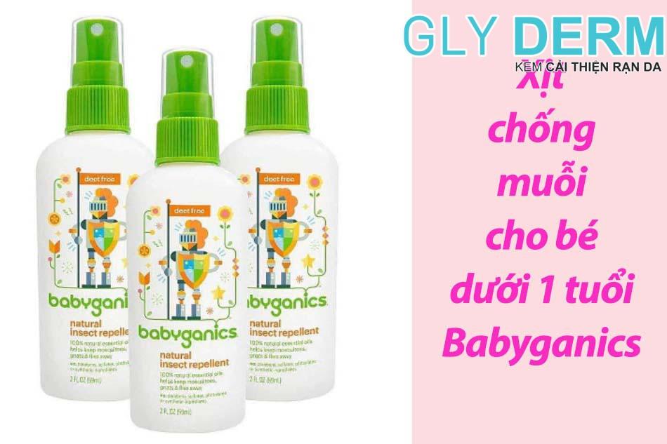 Xịt chống muỗi cho bé dưới 1 tuổi Babyganics