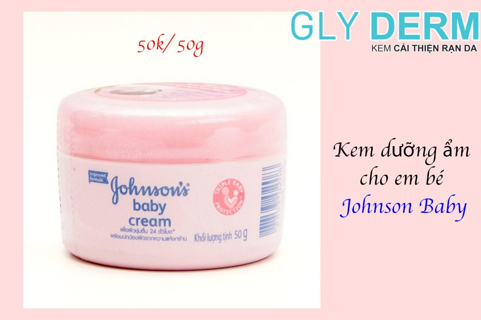 Kem dưỡng ẩm cho em bé Johnson Baby