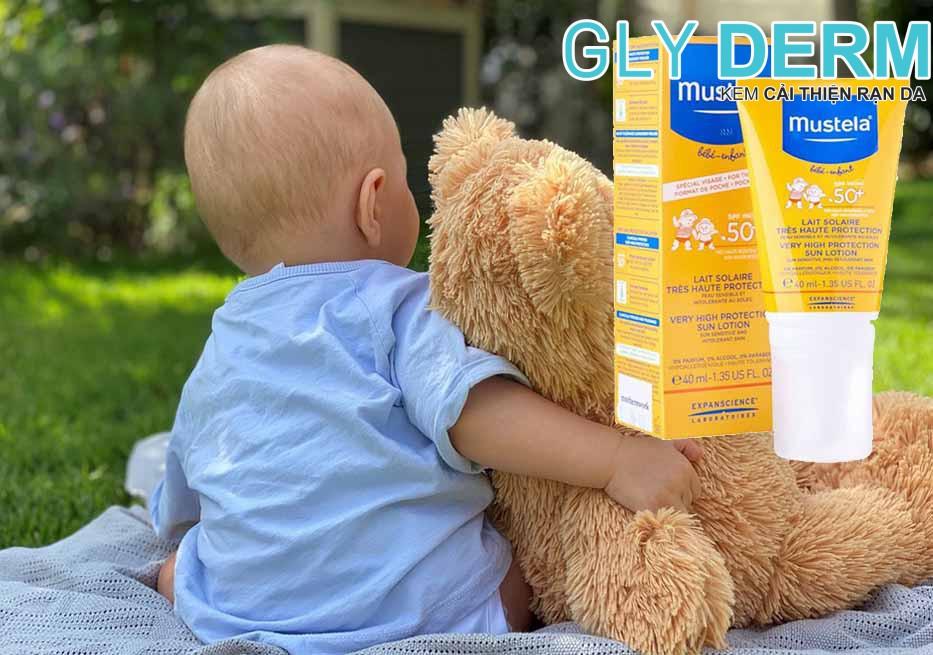 Kem chống nắng cho trẻ sơ sinh Mustela